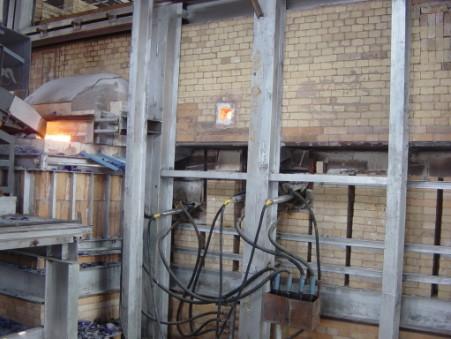 燃煤的日产50吨竞博电竞官网的马蹄焰池窑的电助熔